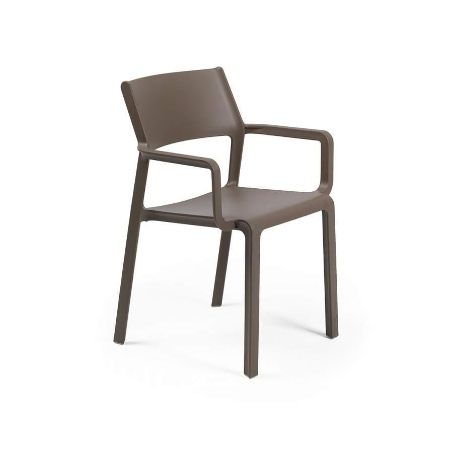 Крісло Trill tabacco з підлокітниками  58,5х53,5х82,5см