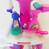 """Игровой набор для уборки с пылесосом """"Мамина помощница"""". Набор для девочек, фото 5"""