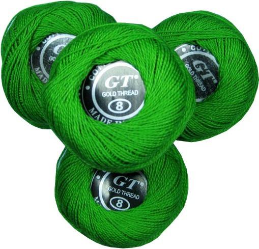 Нитки ирис ярко-зеленый № 319