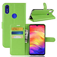 Чехол-книжка Litchie Wallet для Honor 8A / 8A Pro / Huawei Y6s Green