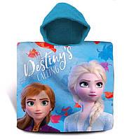 Пляжное полотенце-пончо Disney Frozen II Холодное Сердце, для девочки 3-7 лет
