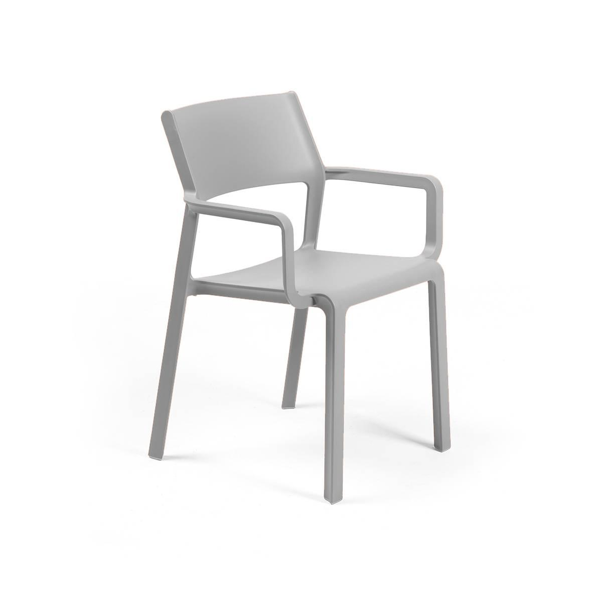 Крісло Trill grigio з підлокітниками 58,5х53,5х82,5см