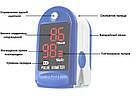 Пульсоксиметр медицинский на палец Fingertip Pulse Oximeter LK87 измерения кислорода крови пульсометр оксиметр, фото 9