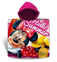 Пляжний рушник-пончо з капюшоном Disney Мінні Маус для дівчинки 3-7 років