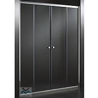 Душевая дверь в нишу KO&PO 7052 120х180 раздвижная  четырехсекционная матовое закаленное стекло