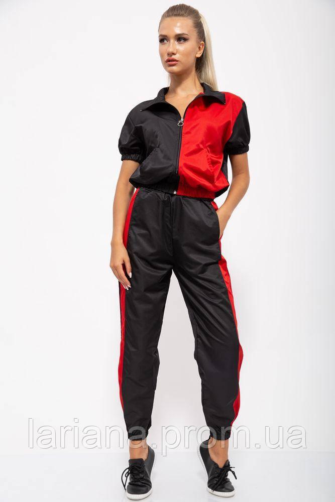 Спорт костюм женский 103R2002 цвет Черно-красный