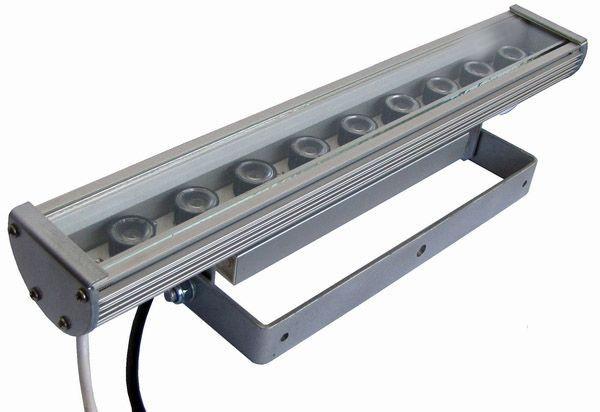 Линейный светильник 27W  410мм IP67 Wall washer синий