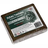 """Пластилин скульптурный Гамма """"Студия"""" оливковый, мягкий, 500г"""