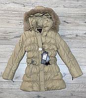 Зимове пальто (Утеплювач синтепон і хутро). 164 зростання.