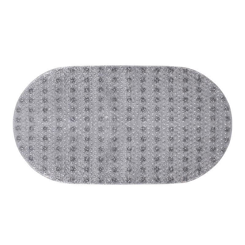 Коврик для ванной антискользящий  прозрачный овальный AWD02091601