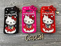 Резиновый 3D чехол для Samsung Galaxy J3 Hello Kitty (3 цвета), фото 1