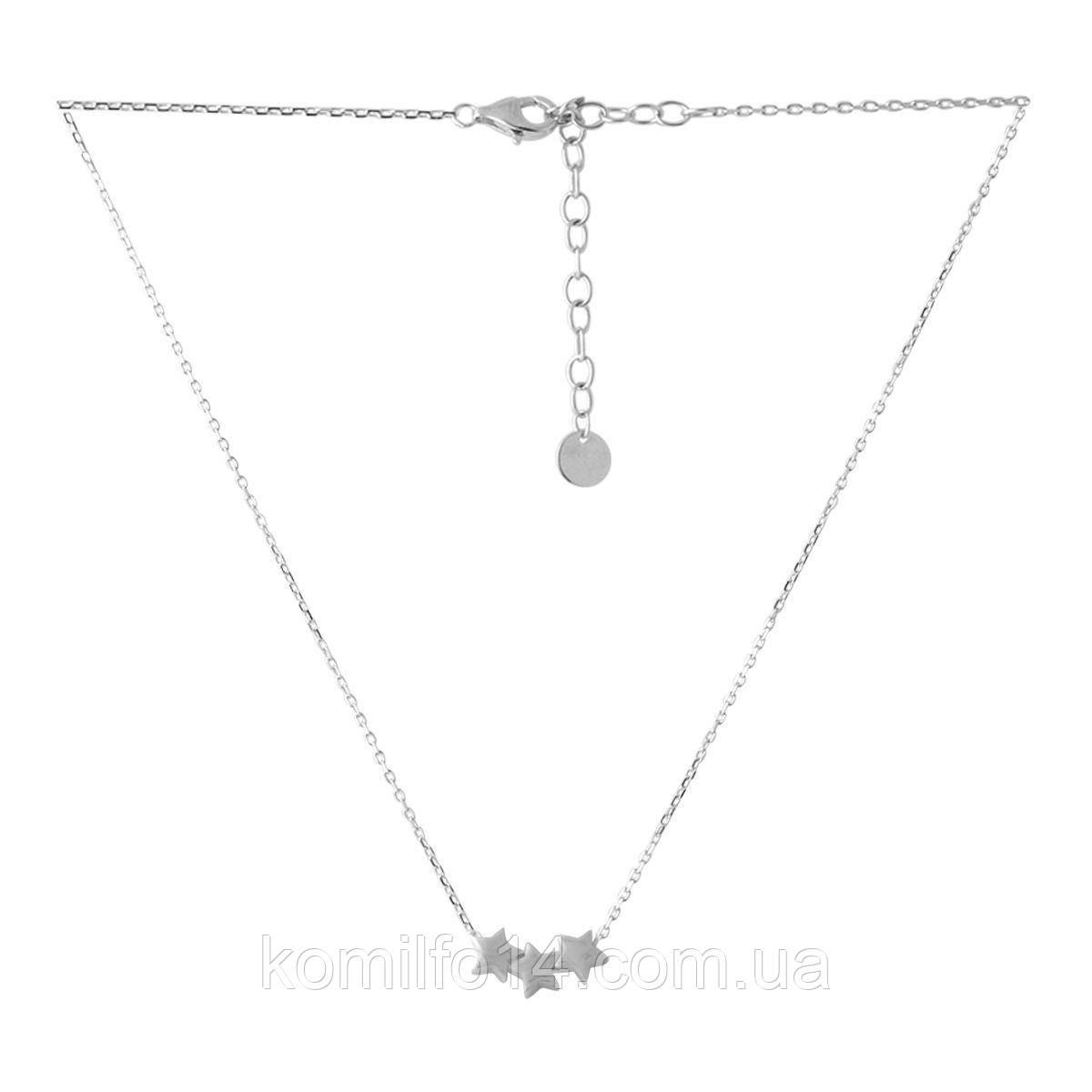Женское серебряное колье без камней