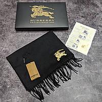 Брендовый шарф Burberry CK1497 черный