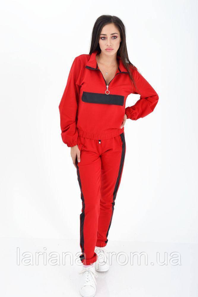 Спорт костюм женский 103R013 цвет Красный