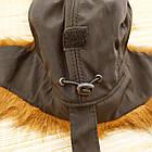Шапка мужская ушанка на меху Prince черная с рыжим мехом 20038069, фото 6