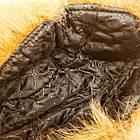Шапка мужская ушанка на меху Prince черная с рыжим мехом 20038069, фото 8