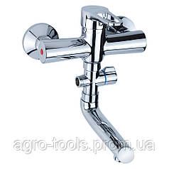 Змішувач HL Ø35 для ванни гусак прямий 150мм дивертор виносної картріджний AQUATICA (HL-3C130C)