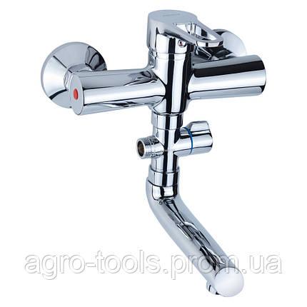 Смеситель HL Ø35 для ванны гусак прямой 150мм дивертор выносной картриджный AQUATICA (HL-3C130C), фото 2