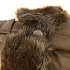 Шапка мужская ушанка на меху Prince черная 20038052, фото 6