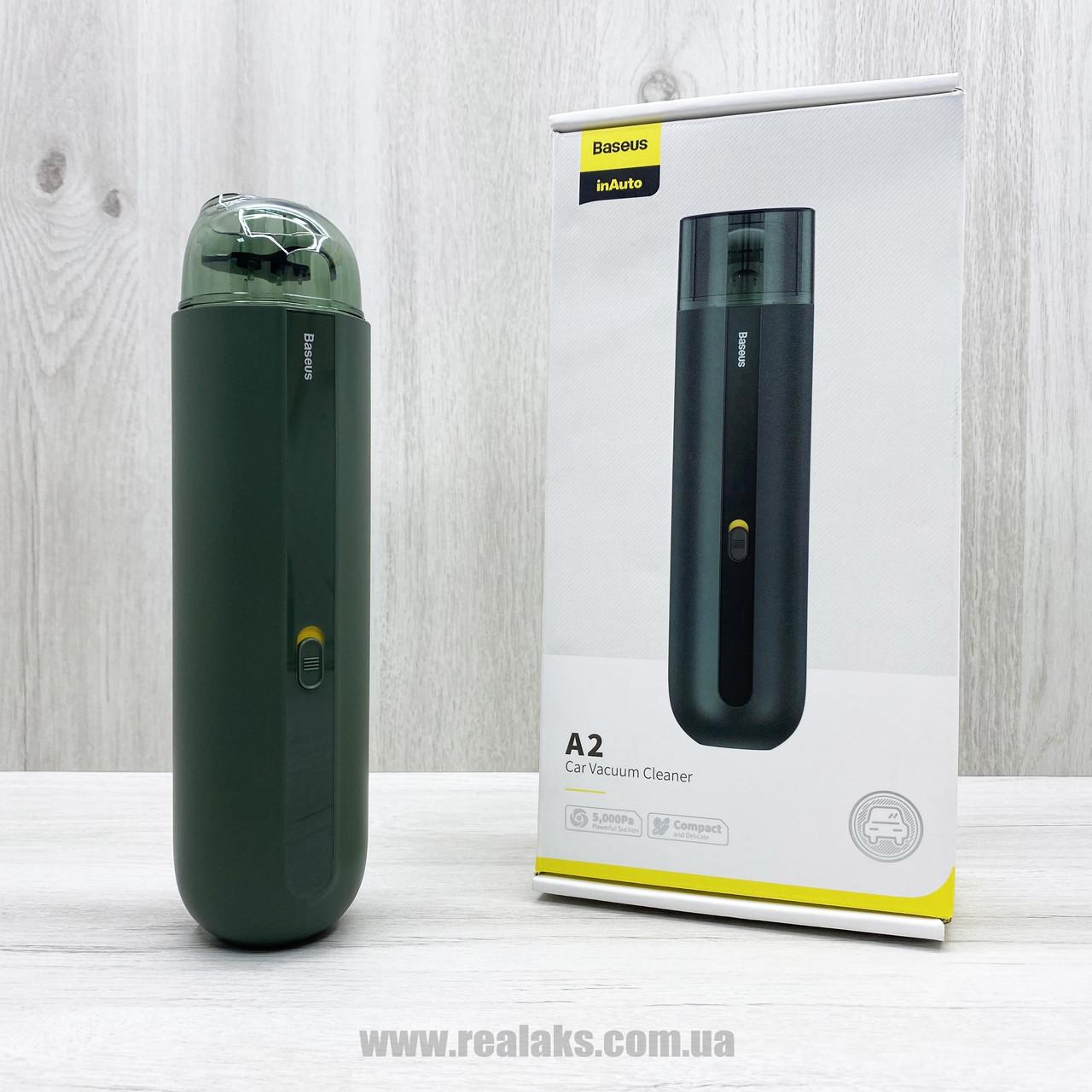 Автомобильный пылесос BASEUS A2 Car Vacuum Cleaner (green)