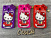 Резиновый 3D чехол для Xiaomi RedMi 4X Hello Kitty (3 цвета)