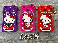 Резиновый 3D чехол для Xiaomi RedMi 4X Hello Kitty (3 цвета), фото 1