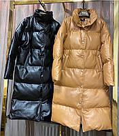 Женская стильная демисезонная куртка из эко-кожи, фото 1