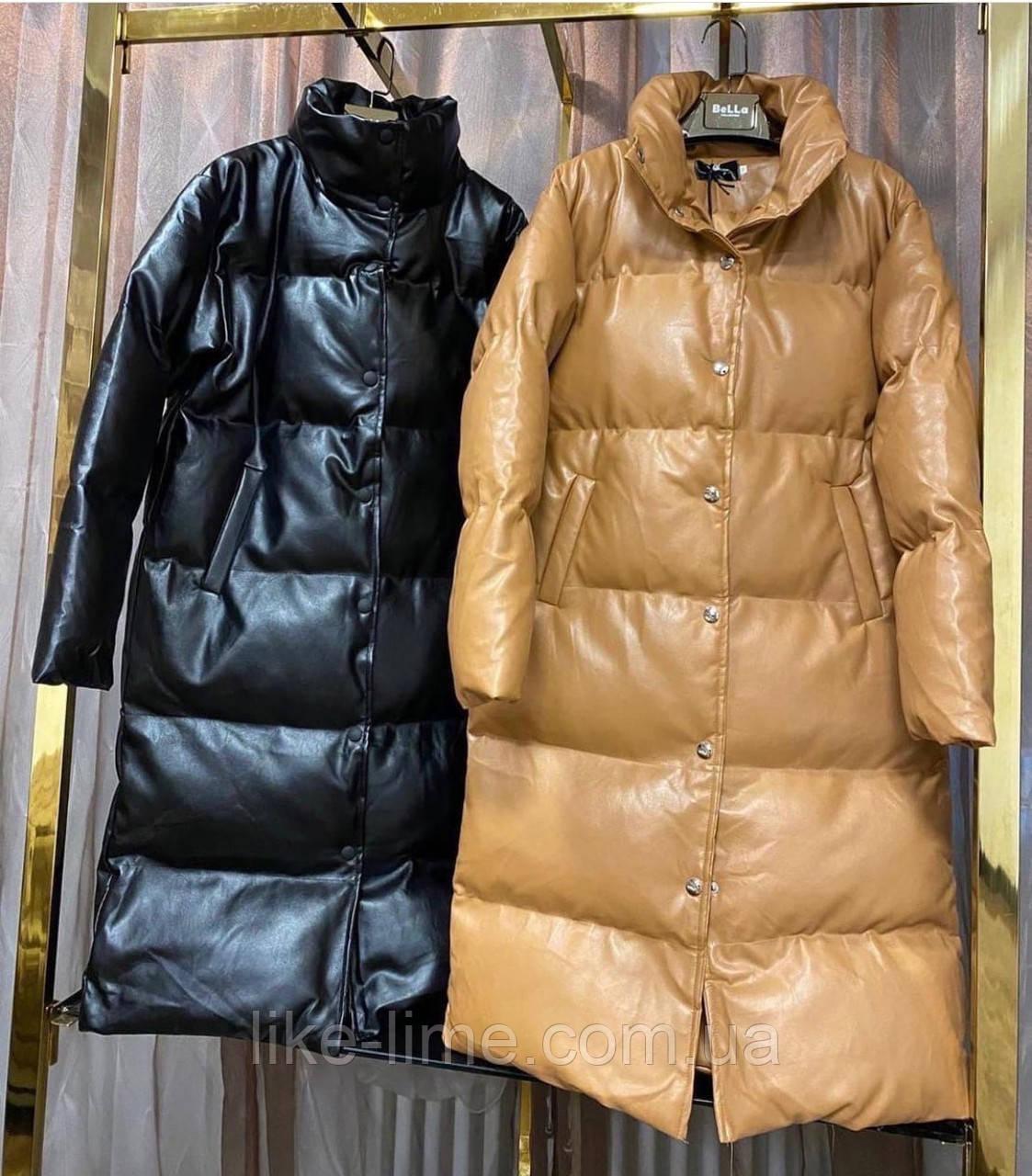 Женская стильная демисезонная куртка из эко-кожи