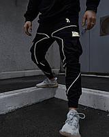 Теплые брюки карго мужские Огонь Пушка Xeed черные с рефлективом
