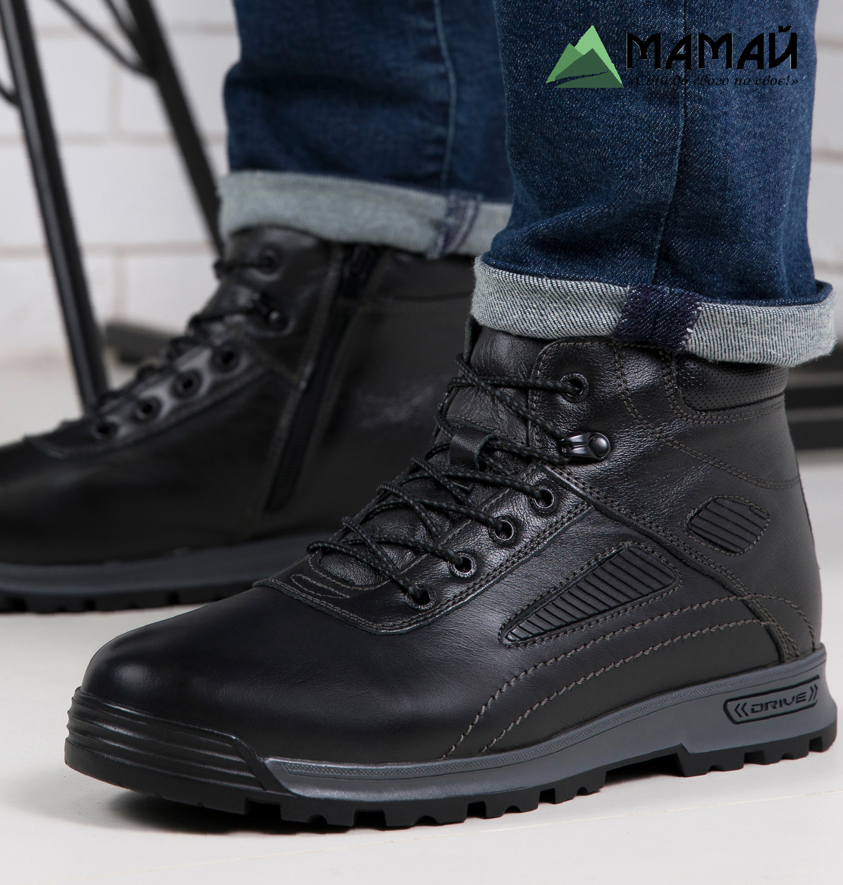 Чоловічі зимові черевики з натуральної шкіри -20 °C 40р