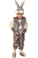 Карнавальный костюм Зайчик серый, фото 1