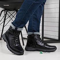 Мужские зимние ботинки из натуральной кожи 40р, фото 3