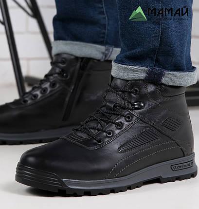 Чоловічі зимові черевики з натуральної шкіри -20°C 40р, фото 2