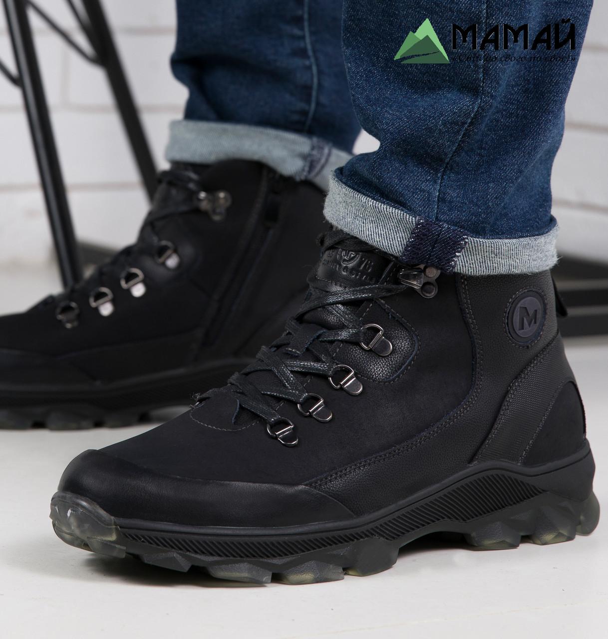 Мужские зимние ботинки из натуральной кожи -20°C 40р