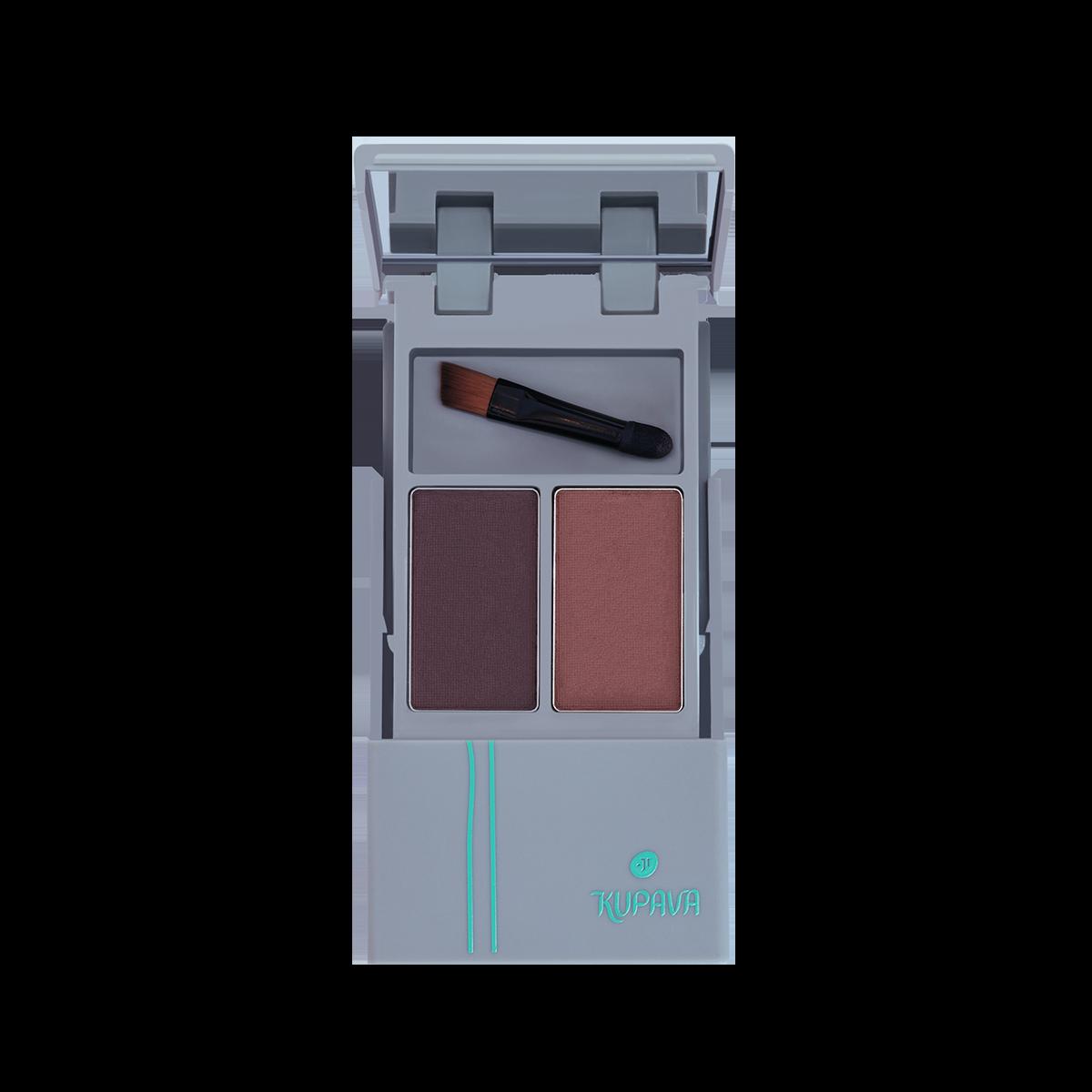 Тіні-дует для брів з аплікатором KUPAVA  Тени-дуэт для бровей с аппликатором KUPAVA
