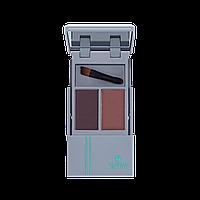 Тіні-дует для брів з аплікатором KUPAVA  Тени-дуэт для бровей с аппликатором KUPAVA, фото 1