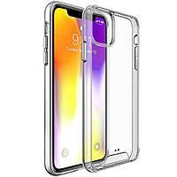 Ультратонкий чехол накладка CLEAR SPACE для iPhone 12 / 12 pro силикон+пластик