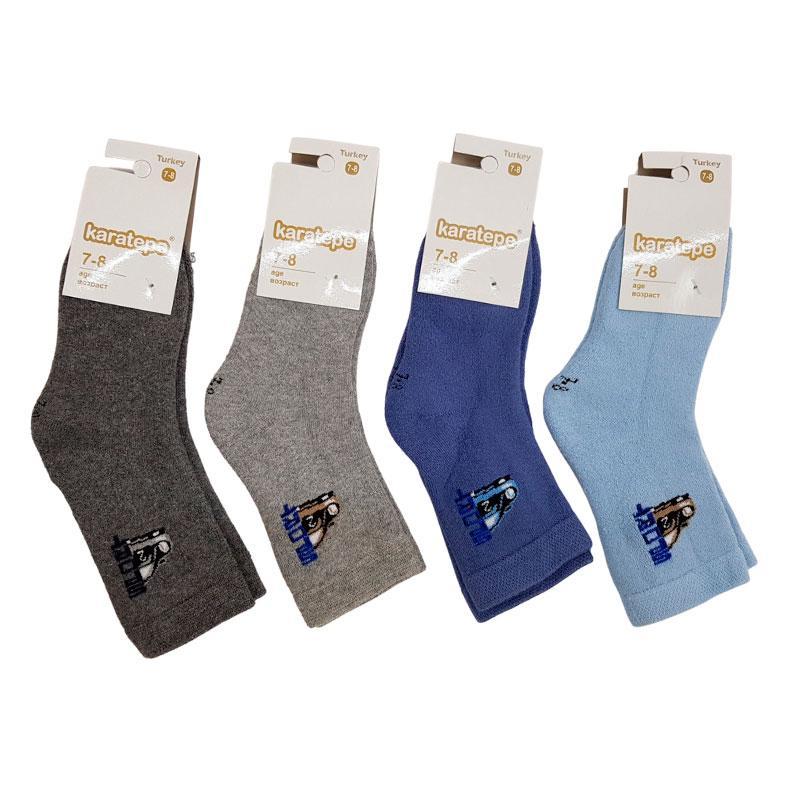 "Носки для мальчика махра №11- 12 ""Машина"" Karatepe"