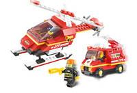 Конструктор Sluban серия Пожарные спасатели M38-B0219 (Пожарная часть аэропорта), фото 1