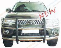 Дуги зашитные передние(кенгурятники) Mitsubishi Pajero Sport 2009-2013
