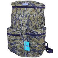 Рюкзак для рыбалки и охоты SkyFish 60 л большой водонепроницаемый Пиксель
