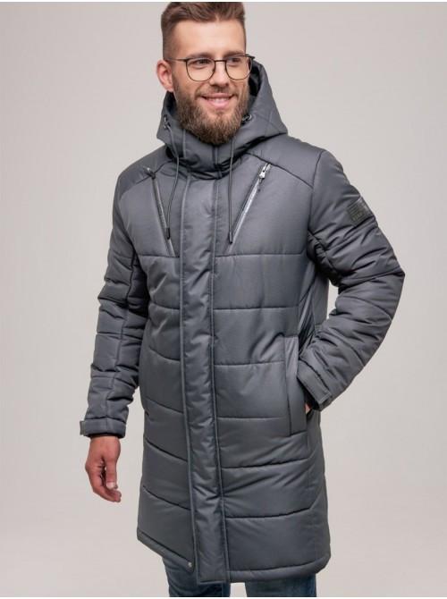 Мужская зимняя куртка серая. Размер 46(S), 48(M), 50(L), 52(XL), 54 (XXL), 56 (XXXL)