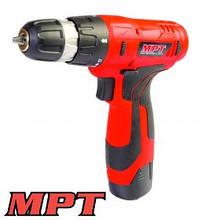 MPT  Дрель - шуруповерт аккумуляторная 12V, Li-ion,1.3 Ач, 0-600 об/мин., 0-10 мм, 1 АКБ, Арт.: MCDT1216.B1