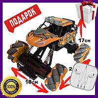Трюковая машинка на радиоуправлении вездеход, Оранжевый Fever Buggy 4WD 4x4 детская машинка вездеход