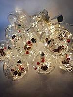 Гирлянда светодиодная декоративная крупные шары №2