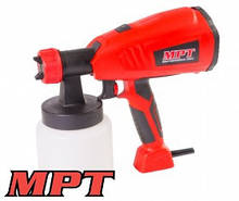 MPT  Краскопульт электрический 400 Вт 700 мл, 60 DIN/сек., Ø 1,8-2,6 мм, 700 мл/мин, 1,5-2,5 бар, Арт.: