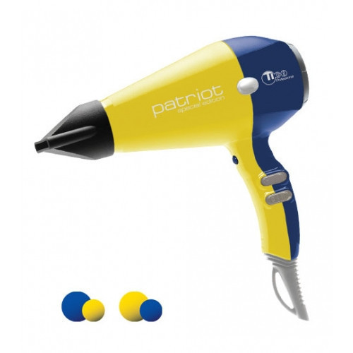 Фен для волос TICO Professional Patriot Yellow-Blue