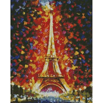 Алмазная вышивка Эйфелева башня в огнях 40 х 50 (AM6136, На подрамнике)