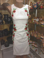 """Сукня жіноча""""Маків цвіт""""білий"""