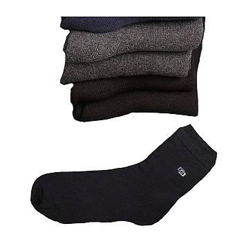 Носки мужские на махре хлопок 44 - 46, черный